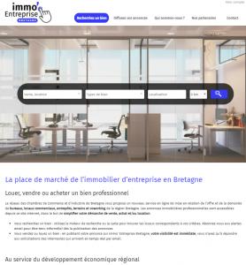 page d'accueil d'immo Entreprise Bretagne