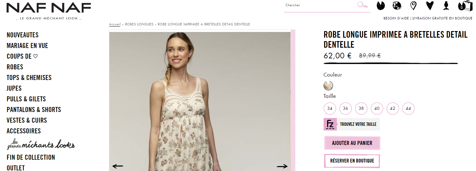 Capture d'écran de la page d'atterrissage lorsque l'on clique sur payer sur le site web