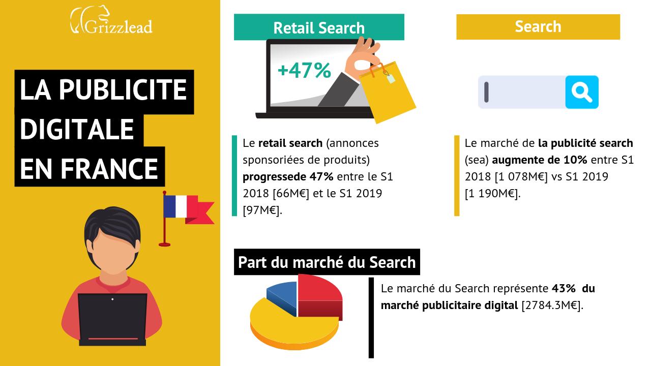 Infographie sur l'impact de la publicité digitale en France