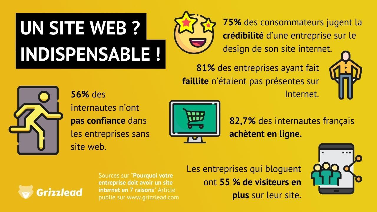 Infographie - 5 statistiques qui montrent pourquoi un site web est indispensable