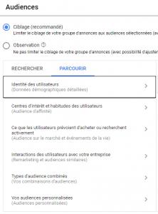 La configuration de votre ciblage par audiences sur Google Ads Adwords