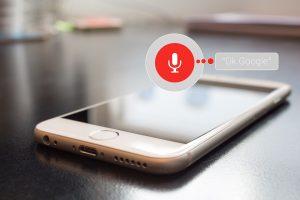 Commande vocale smartphone
