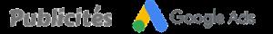 Logo de publicité Google Ads
