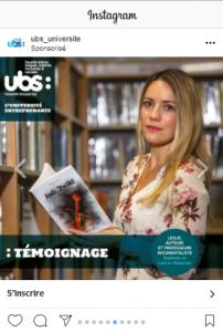 Témoignage des journées portes ouvertes UBS sur Instagram