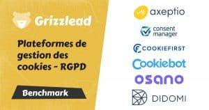 bannière article comparatif des plateformes de gestion des cookies rgpd : didomi, consentmanager, axeptio, osano, cookiefirst, cookies bot